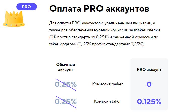 оплата PRO аккаунтов